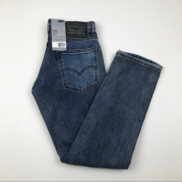 88b4306867a Levi s 511 Line 8 Slim Fit Blue Jeans Re Done